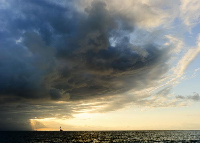 Moody weather pattern on the horizon