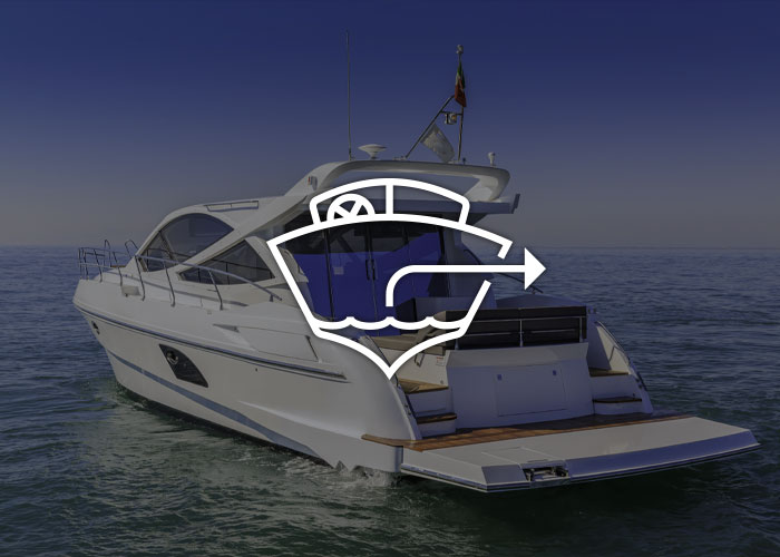 Boat with bilge icon