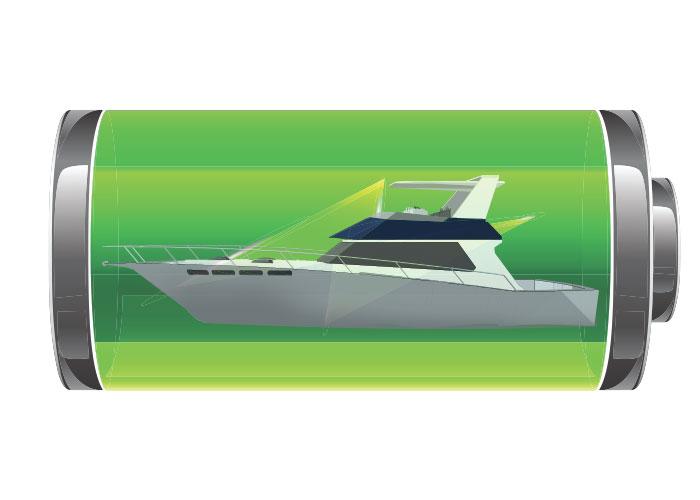Boat in a battery