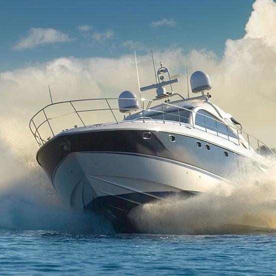 Powerboat head on SOTDMA AIS