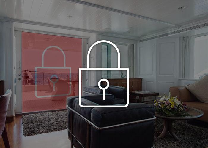 Security for saloon cabin doors