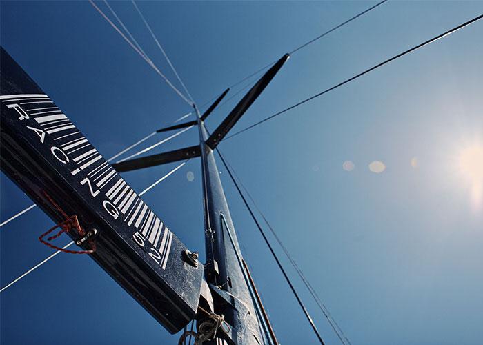 Wind indicator on a yacht mast