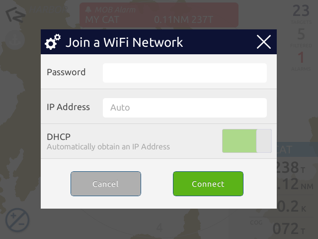Using PC software to enter WiFi network password