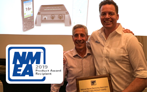 Founders Carl and Jeff accept NMEA Award Best New Product Award